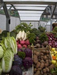 un mercato biologico