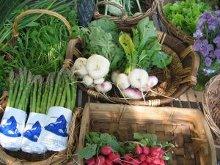 verdura in un mercato