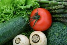 una cassetta di verdura