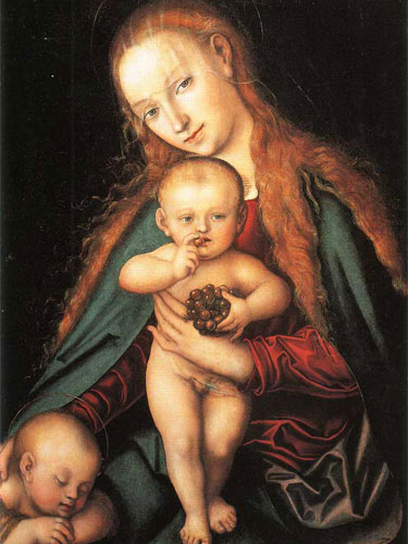 dipinto di madonna col bambino