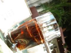 bicchiere di bibita analcolica
