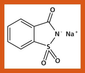 La struttura della molecola di Saccarina
