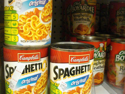 spaghetti alla bolognese in scatola