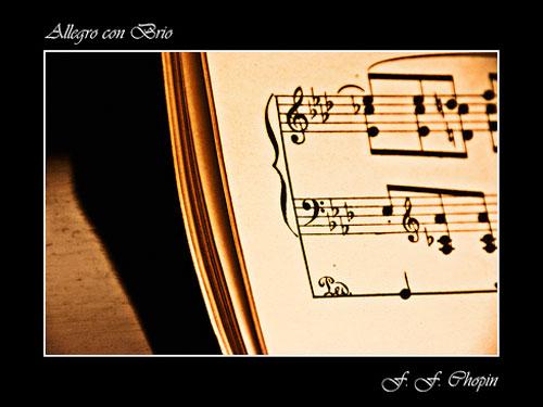 uno spartito musicale