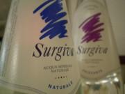 Etichetta dell'acqua minerale naturale Surgiva