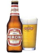 bottiglia di birra peroni