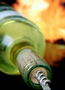 bottiglia di vino bianco