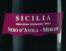 etichetta del nero d'avola - merlot