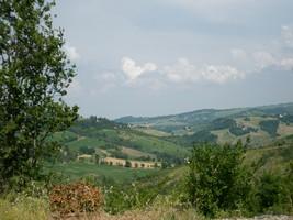 panorama sui colli bolognesi dall'orto dei giusti
