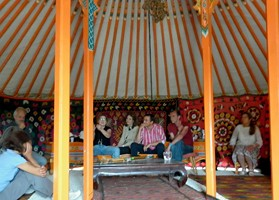dentro la yurta