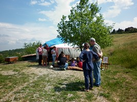 davanti alla yurta