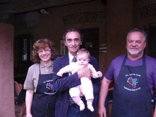 artino con la famiglia Zoff