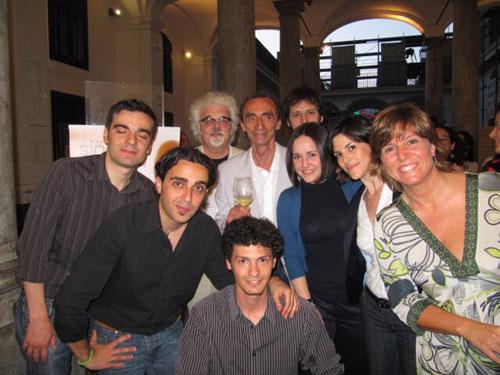 con i soci fondatori della Compagnia Comunale di Palermo