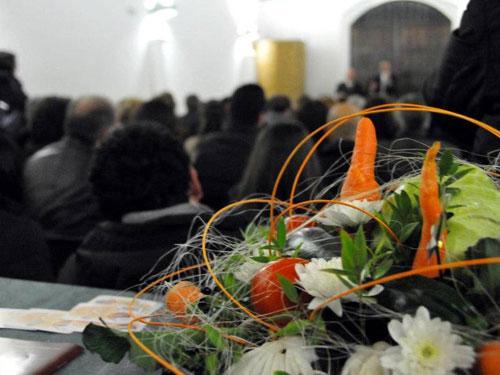 la presentazione e il bouquet di verdure
