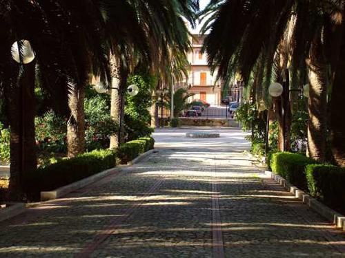 ingresso della villa comunale di ribera