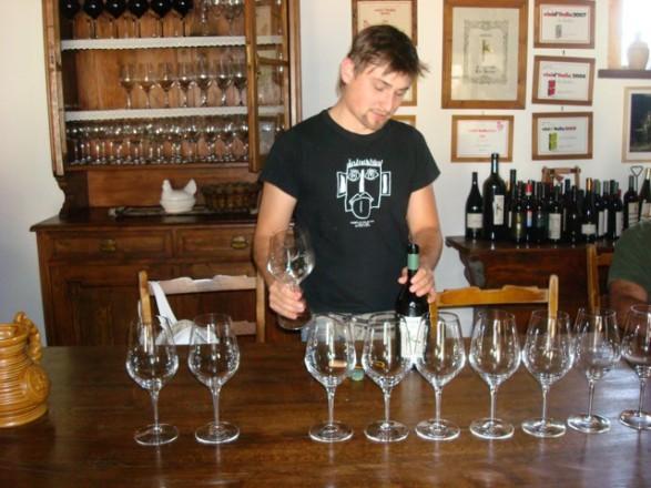 degustazione di vino con kristian keber