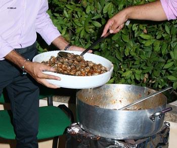la cottura delle lumache