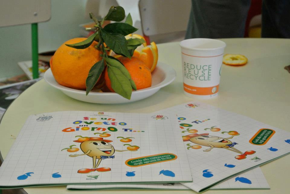 arance e attività didattiche a scuola