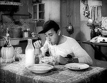 frame del film un americano a roma