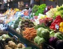 un banco di verdura