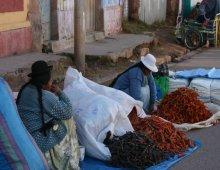 Mercato delle spezie in perù