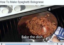 spezzone del video: il ragu cotto nel forno