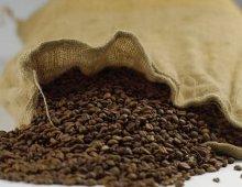 un sacco pieno di chicchi di caffe