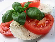 mozzarella e pomodoro, dieta mediterranea