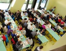 panoramica di una mensa scolastica