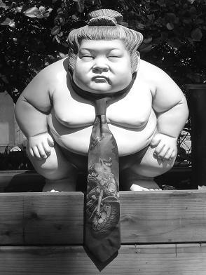 un lottatore di sumo