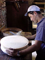 Lavorazione del formaggio Bitto