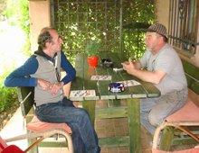Martino chiacchiera con Giuseppe Zoff