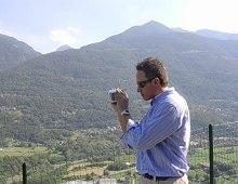 Luca giornalista in Valtellina