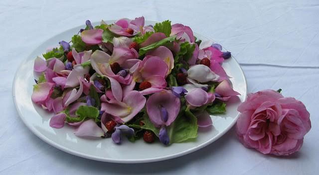 Un'insalata di fiori!