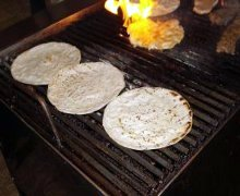 Tortillas in cottura