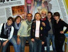 la redazione al completo (da sinistra: Serena, Silvia, Martino, Francesca, Patrizio, Mara e Monica)