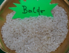 una ciotola di riso baldo