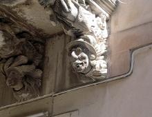 ragusa ibla, particolare di un palazzo