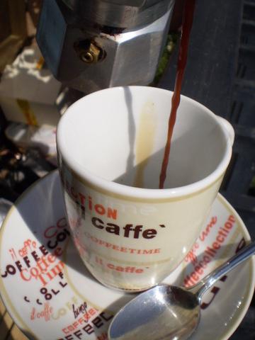 tazzina di espresso al bar