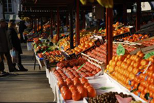un mercato delle arance
