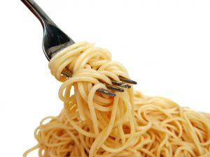una forchettata di spaghetti