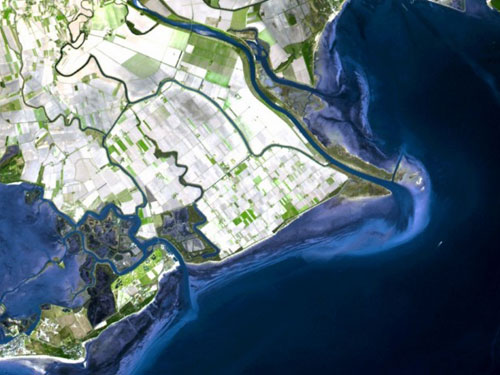 foce dell'isonzo dal satellite