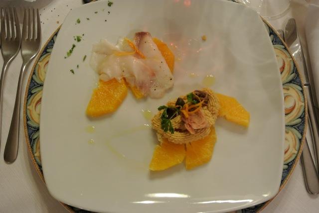 antipasto arance tonnate e baccalà all'arancia