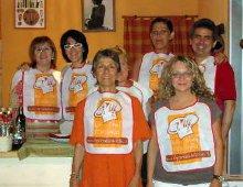 il gruppo dei partecipanti alla cena
