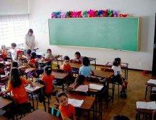 Una classe di scuola primaria