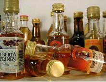 Bottiglie di liquori assortite