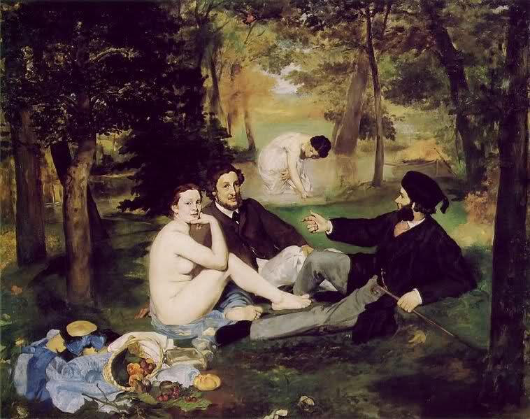 immagine dell'opera Le dejeuner sur l'herbe di Manet