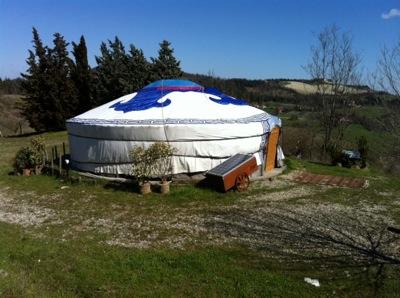 La yurta all'orto dei giusti