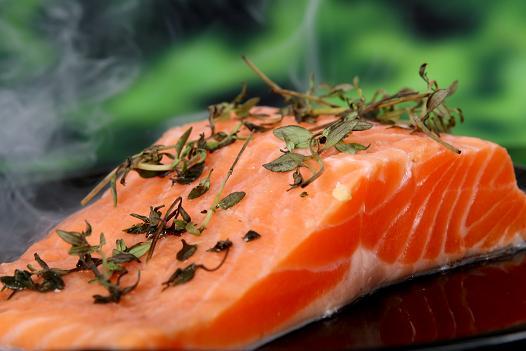 un trancio di salmone