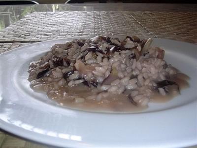 piatto di risotto al radicchio